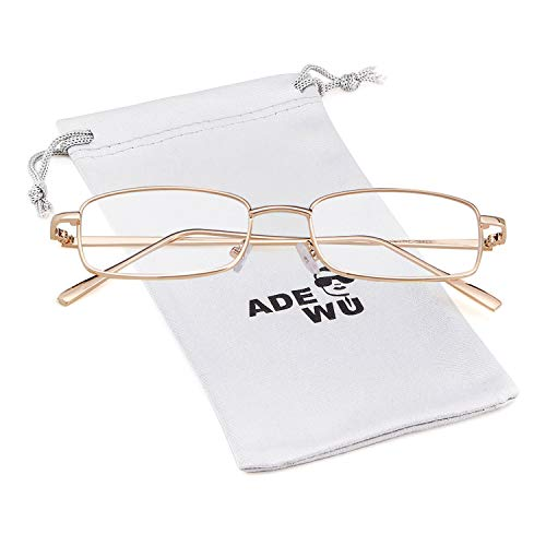 ADEWU Platz Sonnenbrille Mode Retro Brille für Damen Herren