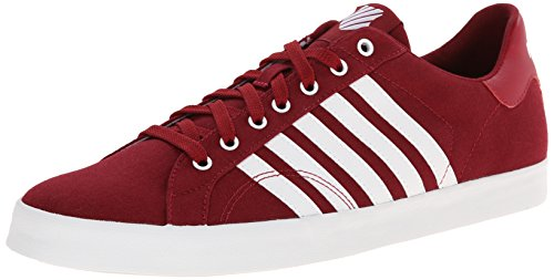 K-Swiss BELMONT SO T, Herren Sneakers, Rot (BIKING RED/WHITE 622), 43 EU (9 Herren UK) (Stripe 13 Herren Twill)
