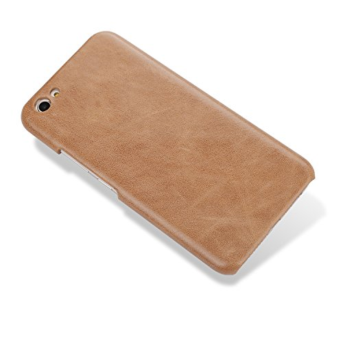 EKINHUI Case Cover Retro Frosted Echtes Leder Hard Back Cover Luxus Holster Case Drop Schutz [Shockproof] Shell Cover für OPPO X9s Plus ( Color : Black ) Brown