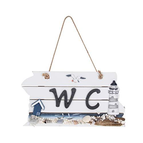LIOOBO Wc türschild Holz wandbehang Zeichen wc türschild für Home Restaurant Shop (zufälliges Muster)