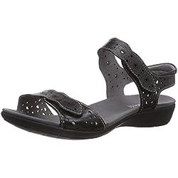 Romika Tahiti 03 - Sandalias de vestir de cuero para mujer, color negro, talla 37
