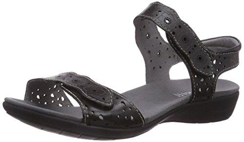 Romika - Tahiti 03, Con cinturino alla caviglia Donna Nero (Nero (Nero 100))
