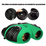 QHJ Outdoor Telescope for Kids - Binoculars, Leichtes Mini Compact Wasserdichtes Binoculars für Kinder (Grün)