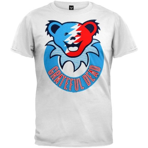 ead–Herren Smiley Bär T-Shirt OG Exklusive Gr. Large, Weiß (Grateful Dead Bären)