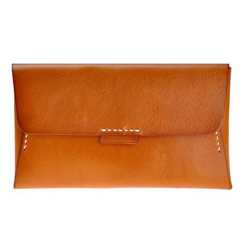 ZLYC, Poschette giorno donna Width 20 cm, height 11.5 cm, thickness 2.8 cm, marrone (Marrone) - LY-WA-21-BR-1 marrone