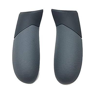 Meijunter Replacement Rear Handle Grip Left Right Panel 1 Pair for Xbox One Elite Controller(Black) from Meijunter