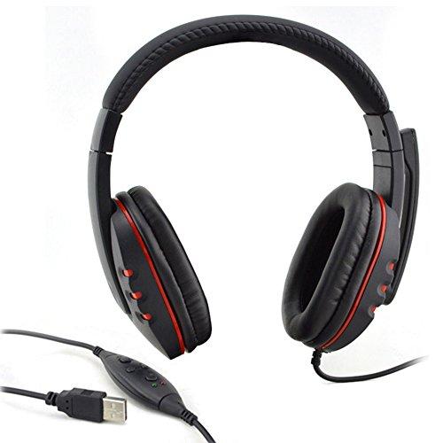 USB Gaming Kopfhörer mit Mikrofon über die Ohr-Spiel Headset Mikrofon Wired Stereo-für Sony PS3PS4PC (Sony Stereo-headset Ps3)