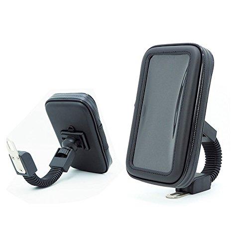 Profesional impermeable moto apoyo caso, SUNSEATON rotación de 360 grados soporte universal...