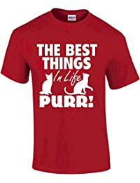 The best things in life...PURR novelty cat lover t-shirt