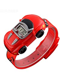 SKMEI Digital Boys' & Girls' Watch (Red Dial Red Colored Strap)