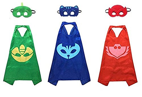 Kiddo Care MK2 Super Hero Capes Satin (PJ Mask - Super Einfach Superheld Kostüm