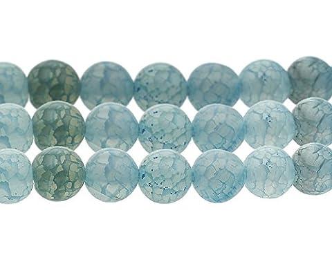 15 Natürliche Regenbogen Achat Perlen 8mm Blau Kugel Edelsteine G295