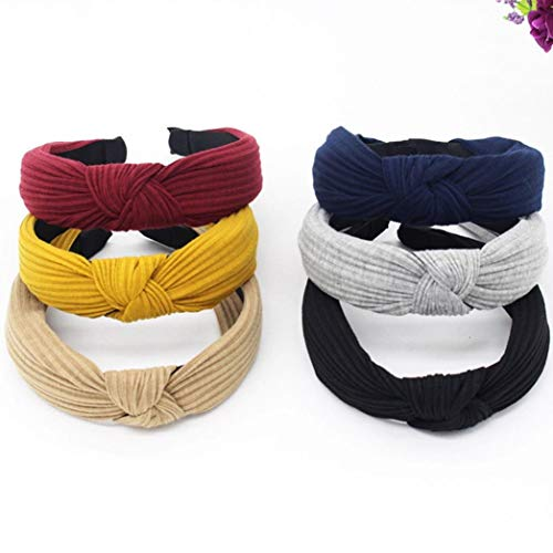 Xmiral-Women-Fashion-plain-Headband-Twist-Hairband-Bow-Knot-Cross-Tie-Headwrap-Hair-Band-Hoop