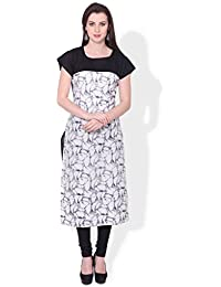 BLUEPOCKET Abstract Print Kurti / Kurta For Women(Cotton, Cap Sleeves, Digital Print Type)