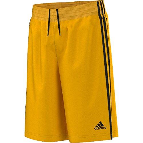 Adidas Mädchen-basketball-shorts (adidas Jungen Y Commander S Shorts,  Gelb/Schwarz, 140 (Herstellergröße: 9-10 Jahre))
