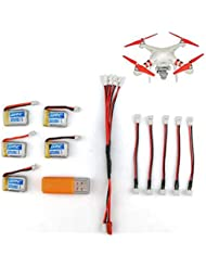 Pudincoco Potente Drone Durable Recargable 3.7 V 150 mAh Batería de polímero de Litio Cargador Directo USB para JJRC H36 RC Quadcopter Capacidad