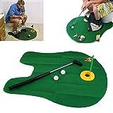 Lustige Potty Putter Toilette Zeit Mini Set Toilette Golf Spiel Neuheit Gag Geschenk Spielzeug Matte Hilft Putting Golf Training & Praxis - Grün zu verbessern