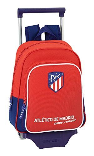 "Safta Mochila Infantil Atlético De Madrid ""Coraje"" Oficial Con Carro Safta 125x95mm"