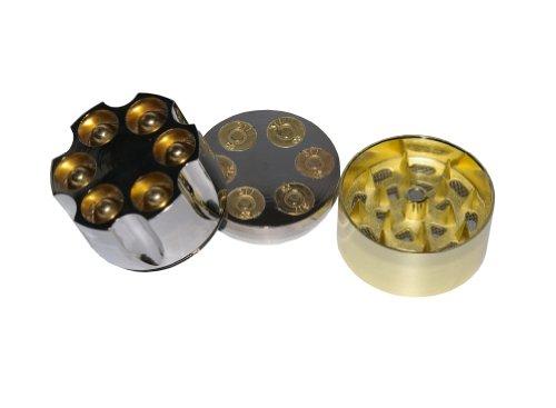 """2"""" Aluminum 3 Piece Tobacco Spice Herb Revolver Bullet Grinder - Fun Novelty Mill Tool, Garden, Haus, Garten, Rasen, Wartung"""