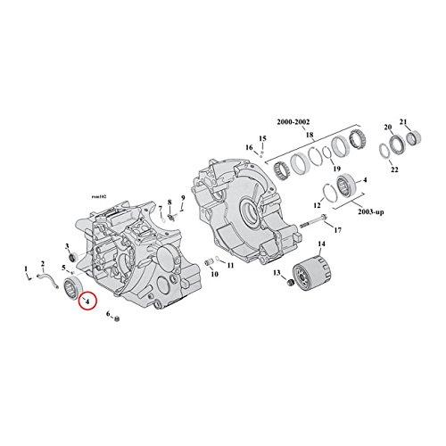 Sprocket Shaft Bearing (MCS Bearing, Pinion/Sprocket Shaft - 00-17 Tcb; 03-17 Tca; 17-18 M8 (Pinion); 03-17 Tca; 03-17 Tcb; 17-18 M8 (Sprocket) 04-17 XL; 08-12 XR1200 (Sprocket).)