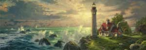 Schmidt Spiele - Thomas Kinkade, Der Leuchtturm, 1000 Teile Panoramapuzzle