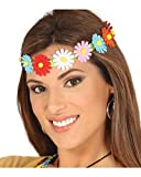 Horror-Shop Hippie Haarband Bunte Blumen für Fasching & Motto Party
