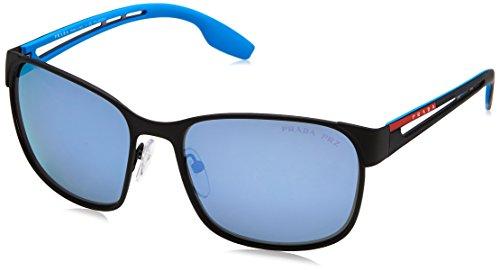 Prada Sport Herren 0PS52TS DG02E0 59 Sonnenbrille, Schwarz (Black Rubber/Grey Waterpolar)