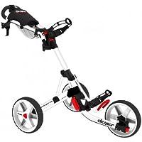 Clicgear XCG430124 - Carrito de golf de mano con ruedas (impermeable), color blanco