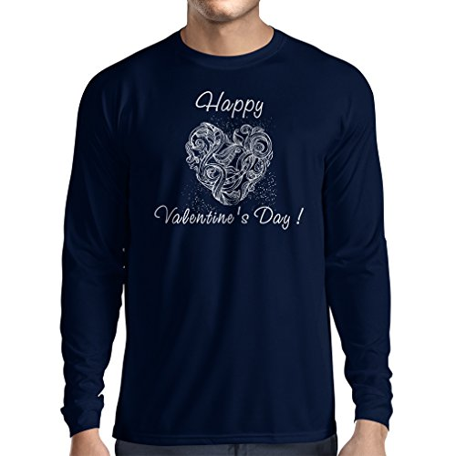 """T-Shirt mit langen Ärmeln SCHÖNEN VALENTINSTAG - """"Ich liebe dich"""" Zitate und Sprüche Blau Mehrfarben"""