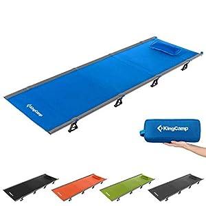 KingCamp Ultraleicht Aluminium Feldbett Campingbett Klappbett bis 120 kg belastbar