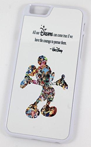 """Walt Disney """"Toutes nos Dreams Can Come True Si nous ont le courage de poursuivre les"""" Citation (iPhone 6/6S 11,9cm Blanc en plastique dur Coque/Housse/)"""