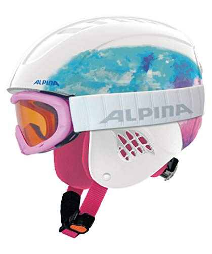 Alpina Sports Unisex Jugend Carat Set Skihelm, Periwinkle, 54-58