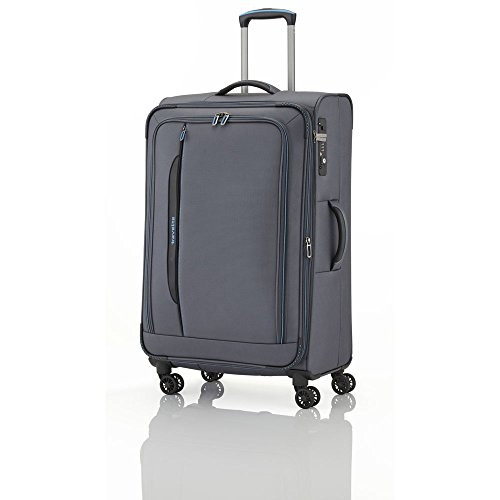 "Travelite Valise trolley ""Crosslite"" avec 4 roues Taille L anthracite Koffer, 77 cm, 102 liters, Schwarz (Anthracite)"