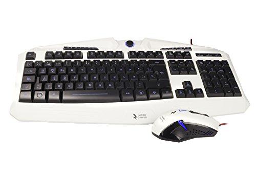 Mars Gaming MCPZE1 - Pack de teclado y ratón gaming para PC...