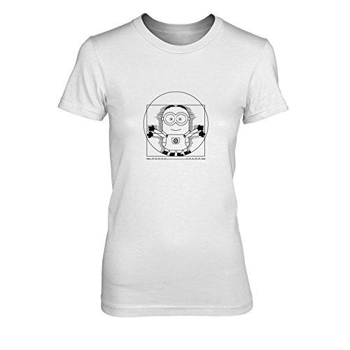 Vitruvian Banana - Damen T-Shirt, Größe: XL, Farbe: weiß