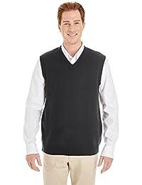 Harriton mens Pilbloc V-Neck Sweater Vest (M415)