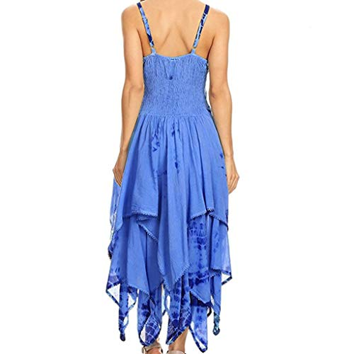 B-commerce Frauen Sommer Mode Sexy Sling Ärmellose Lace Up Unregelmäßigen Korsett Mieder Taschentuch Saum Kleid