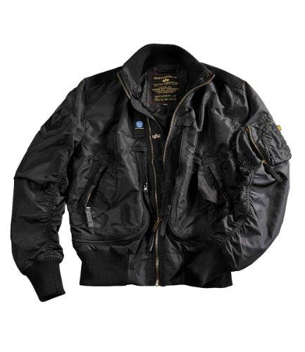 Alpha Industries Herren Jacken / Bomberjacke Prop Bomber Black