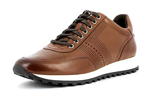 Gordon & Bros Herren Low-Top Sneaker, Conte A150210 Männer Business Sneaker,Halbschuh,Schnürschuh,Strassenschuh,Cognac,42 EU / 8 UK (High-top Glitzer Sneaker)