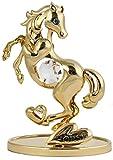 Pferd Figur / Statue 24k gold überzogen Kristall Glas MADE WITH SWAROVSKI ELEMENTS
