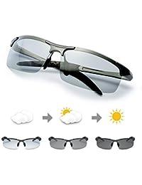 78f7d9161c035a TJUTR Homme Lunette De Soleil Photochromiques Polarisées Conduite Pêche  Golf Eyewear 100% UVA UVB Protection