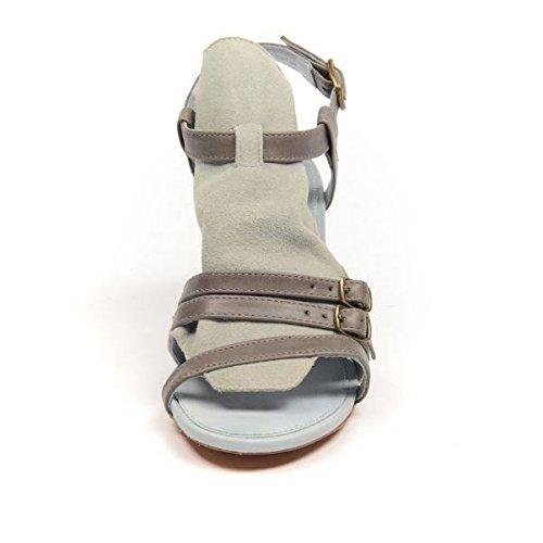 J Chaussures en daim Tantrum Mid talon en cuir Gris