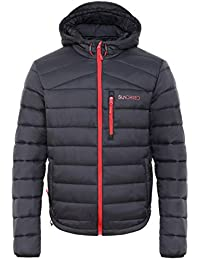 dba6d807602a6 Sundried Acolchado Negro Hombres Abrigo de Invierno cálido con Capucha de  la Chaqueta Puffer - Acolchado