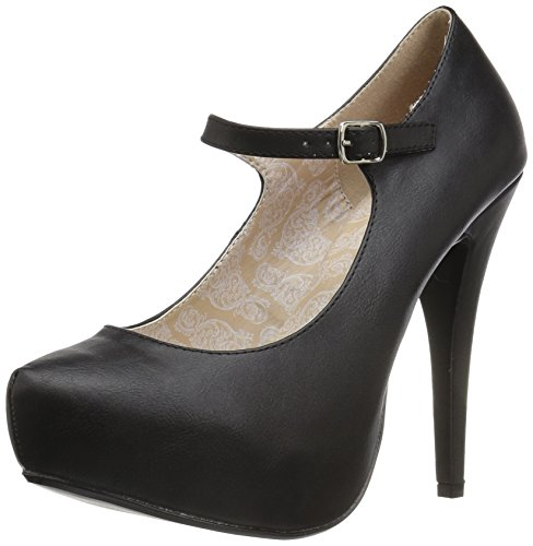 Chloe-02-Plattform Mary Jane mit Stilettoabsatz schwarz matt pumpen - (39 EU = US 9) - Pleaser Rosa-Aufkleber (High Heel-plattform 02)