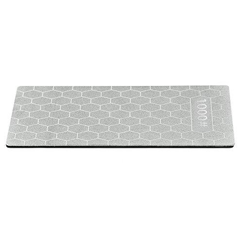 Fjiujin,Professioneller Winkel-Diamantschleifer-Schleifstein der Körnung 1000 für Küchen-Schneider-Außenmesser(color:SILBER)