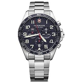 Victorinox Field Watch Reloj para Hombre Analógico de Cuarzo con Brazalete de Acero Inoxidable V241857