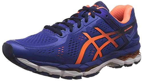ASICS Men's Gel-Kayano 22 ASICS Blue, Hot Orange and Indigo Blue Running Shoes - 9 UK/India (44 EU) (10 US)  available at amazon for Rs.8199
