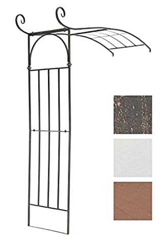 CLP Half Round Rose Arch JASMIN BIG, wall-mountable, made of robust iron, total height / width 230 cm / 180 cm, choose from up to 3 colours bronze