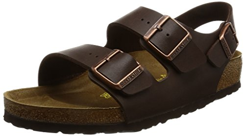 Birkenstock Milano, Unisex-Adults' Sandals, Brown (Dunkelbraun), 9 UK