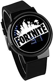 Waterproof Fortnite Game Touch Screen Wrist Watch Luminous Kids Childrens Student Cartoon Gifts